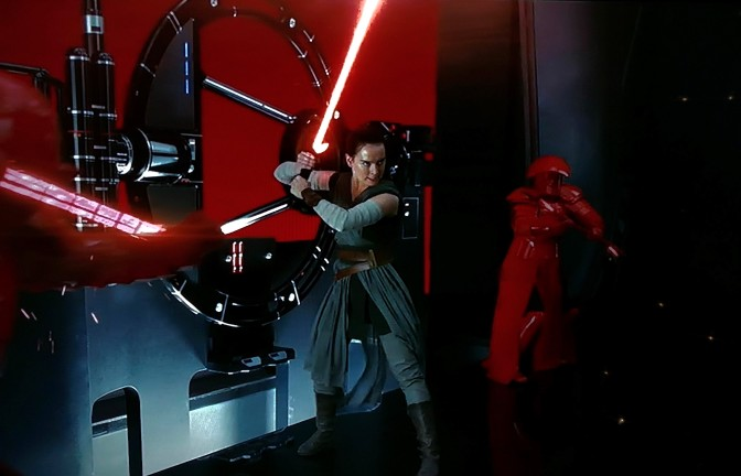 Rey Wields Kylo Ren's Lightsaber in the latest TV Spot for Star Wars: The Last Jedi