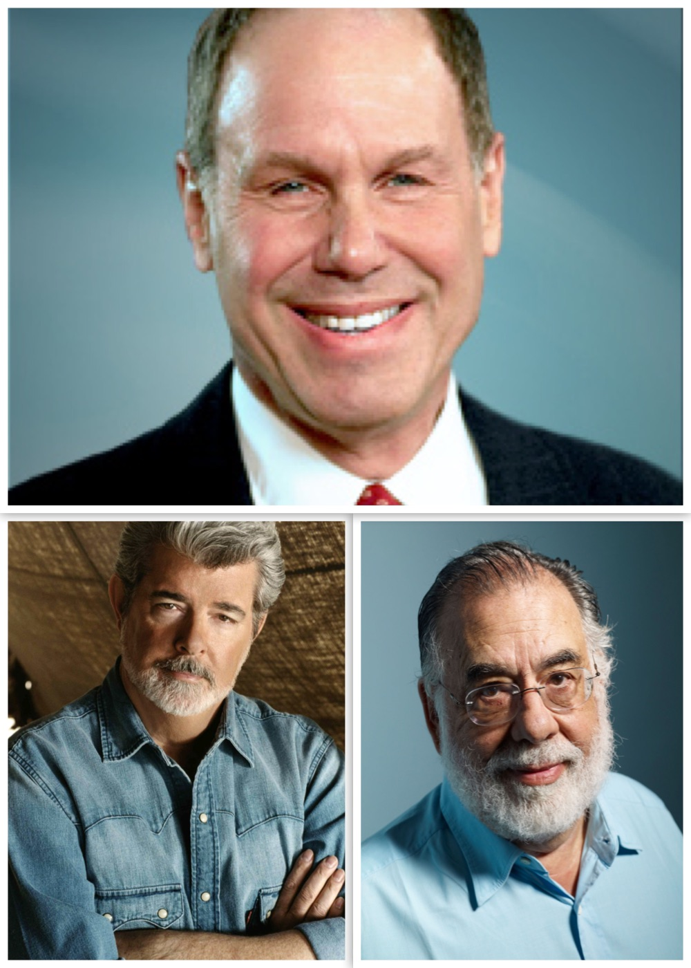 Michael Eisner, George Lucas and Francis Ford Coppola