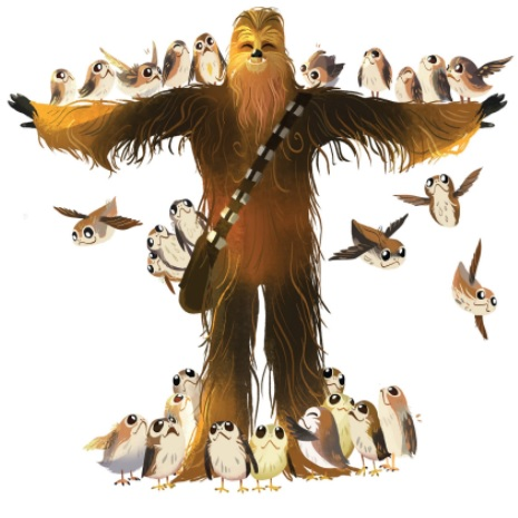 Chewie and the Porgs Beauty and the Beast