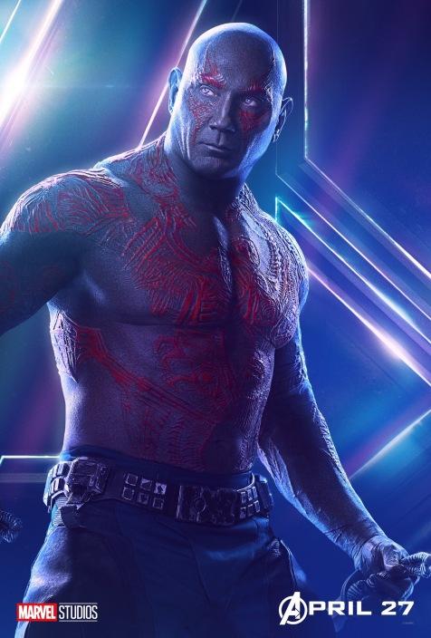 Avengers Infinity War Posters - Drax