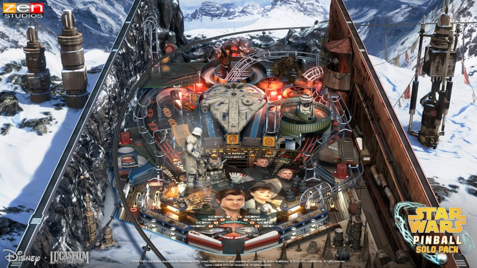 Star Wars Pinball: Solo — It's the digital pinball table that — for the first time ever in a video game — makes the Kessel Run in less than 12 parsecs (if you round down). Exciting 3D character and vehicle models roar to life as you relive all your favorite movie scenes from Solo: A Star Wars Story, from the grand Conveyex shipment heist, the speeder chase and piloting the Millennium Falcon, to meeting familiar faces like Lando Calrissian and Chewbacca.