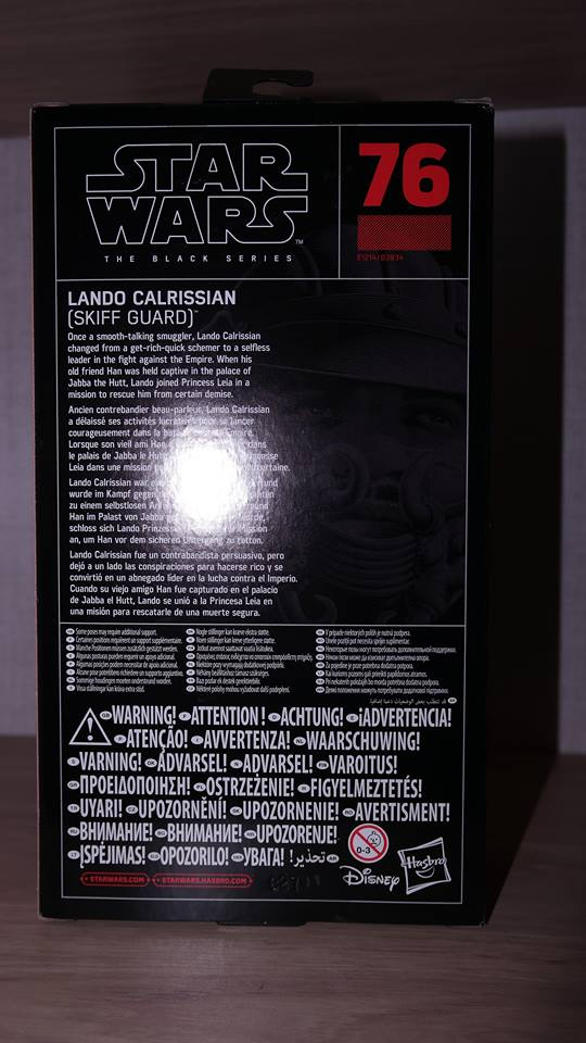 FOTF Star Wars Black Series Lando Calrissian (Skiff Guard) Review 2