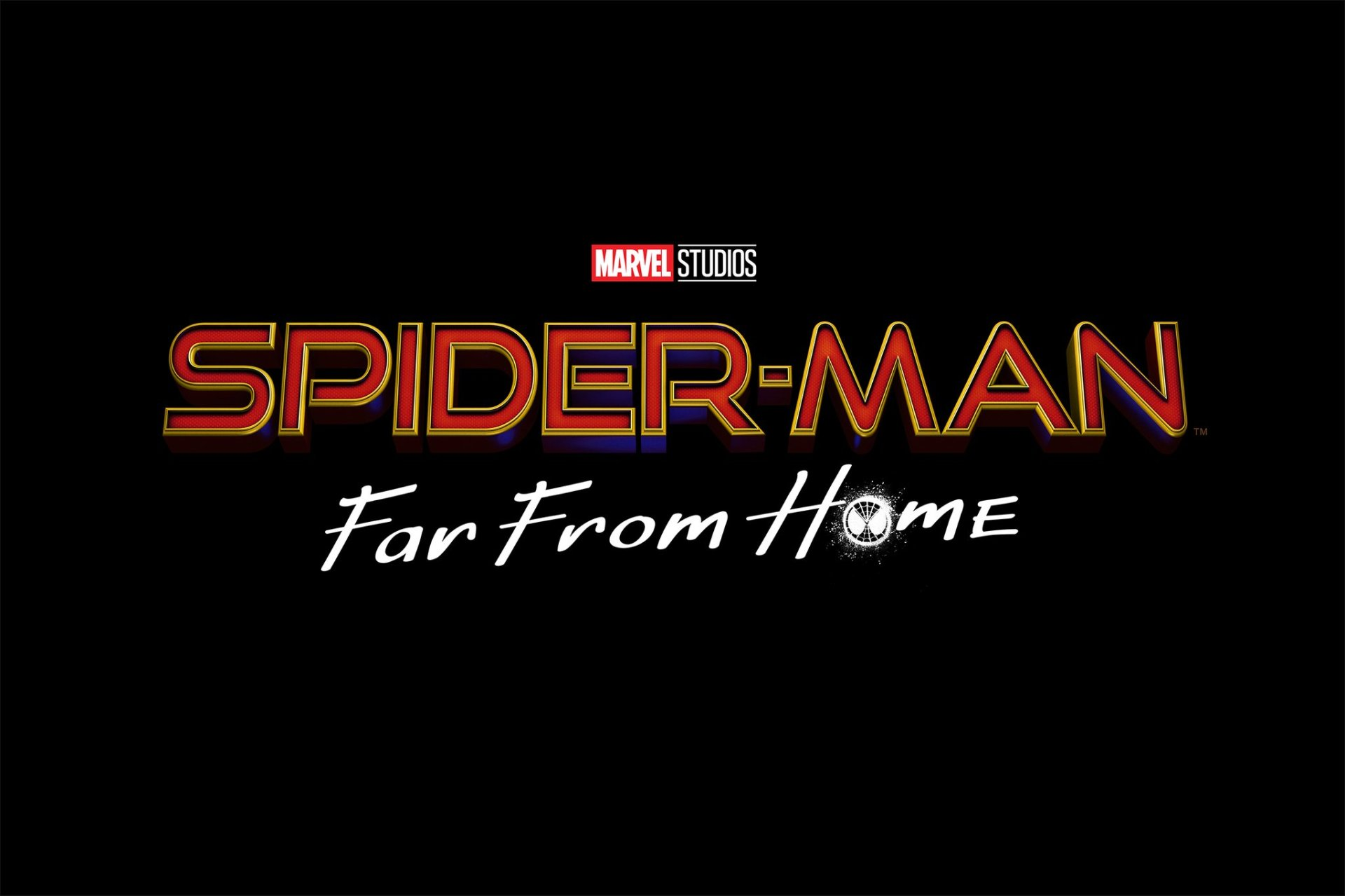 spider-man far from home poster logo