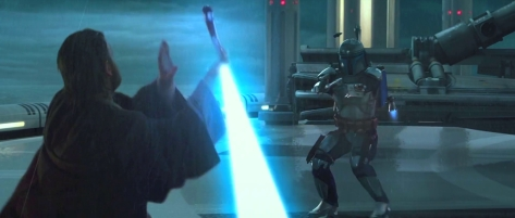 Obi-Wan vs Jango Attack of the Clones