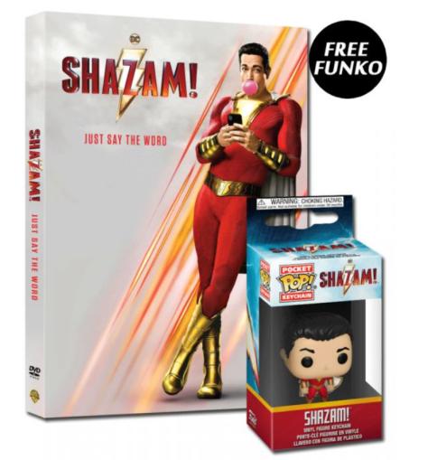 Shazam DVD Funko Deal