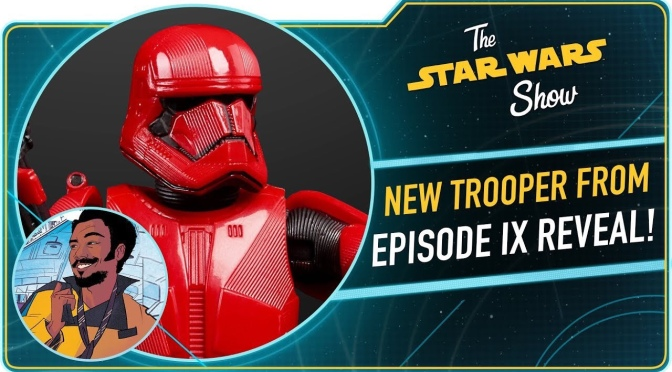 The Star Wars Show | Sith Trooper from Star Wars: The Rise of Skywalker Revealed